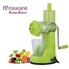 Floraware Fruit & Vegetable Steel Handle Juicer Mixer Grinder with Suction Base, Green for Rs. 399
