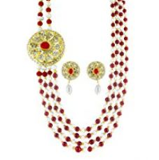 JPEARLS NORA BRIDAL NECKLACE SET for Rs. 600