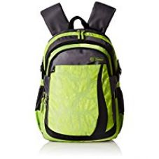 Buy Genius Polyester 38 cms Green Softsided Children's Backpack (RIVER 15 GREEN) from Amazon