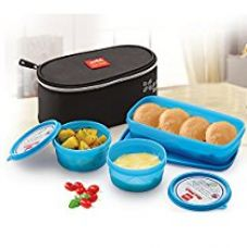Cello Max Fresh Plastic Lunch Box Set, 3-Pieces, Blue (CMF_MY LUNCH_BLUE) for Rs. 425