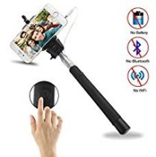 Buy Dmg Extendable Aux Cable Self Portrait Selfie Stick Monopod For Smartphones And Cameras With Shutter Controls Button On Handle (Multi-Colour) from Amazon