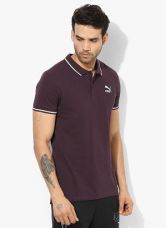 Buy Puma Archive Logo Wine Polo T-Shirt for Rs. 825