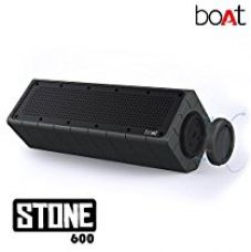 Buy Boat Stone 600 Water-Proof and Shock-Proof Wireless Speakers (Black) from Amazon