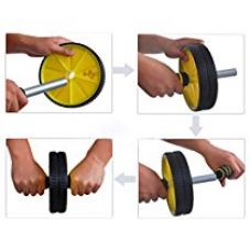 Bulfyss Dual Wheel Total Body Exerciser Trimmer with Free Knee Pad-Irrelevant for Rs. 297
