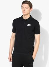 Flat 40% off on Nike As Nsw Pqatchup Black Polo T-Shirt