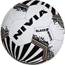 Nivia Dynamic Football, Size 5 (Black/White) for Rs. 711