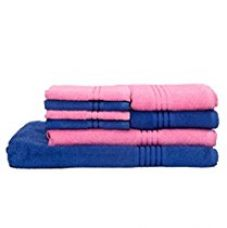 Buy HomeStrap Classic Bath Towel Set -Blue & Pink - Pack of 8 from Amazon