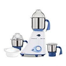 Buy Preethi Blue Leaf Diamond 750-Watt Mixer Grinder with 3 Jars, Blue/White from Amazon