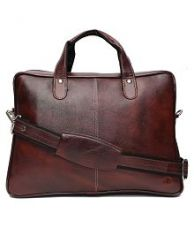 Buy Hammonds Flycatcher Brown Leather Office Bag for Rs. 1,249