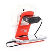 Riona 4 Pcs Wall Mobile Phone Holder/Shelf/Stand/Rack - Mobihold Eco Red MH-ER-4 for Rs. 299