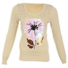 Miss Maria Girls Woollen Sweater (Beige, Medium) for Rs. 755