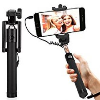 DMG Selfie Stick Wired + Foldable Mini Monopod with Rubber Grip for Android Smartphones and iPhones (Multi-Colour) for Rs. 299
