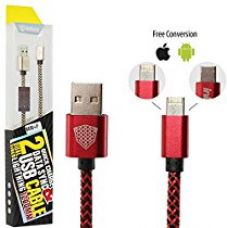 InKax Reversible Micro USB Cable cum Apple Lightning Cable 2 in 1 Joined Cord Both for Android Micro USB and iOS with One Plug for Rs. 399