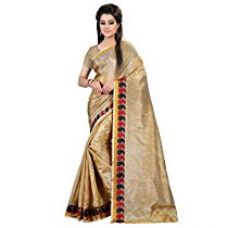 Buy Glory Sarees Silk Cotton Saree (Silk102_Beige) from Amazon