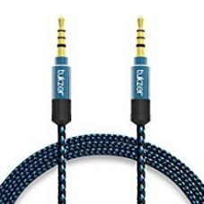 Buy Tukzer Nylon Braided Premium 3.5mm Aux Audio Cable for Car (Blue and Black) from Amazon