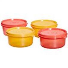 Buy Tupperware Tropical Plastic Container Set, 230ml, Set of 4, Multicolour (TUP_B00LB82VAW) from Amazon