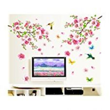 Buy Decals Design 'Flowers Branch' Wall Sticker (PVC Vinyl, 60 cm x 90 cm) from Amazon