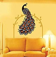 Buy Decals Design 'Beautiful Peacock on Vine' Wall Sticker (PVC Vinyl, 90 cm x 60 cm) from Amazon