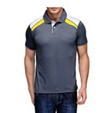 Buy Scott Men's Jersey Collar Neck Sports Dryfit T-shirt - Grey from Amazon