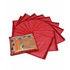 Kuber Industries™ Single Saree Cover 12 pcs set (Red) for Rs. 289