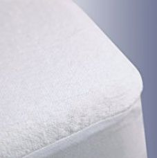 Ahmedabad Cotton Premium Terrycloth Mattress Protector - King Size, White for Rs. 1,399