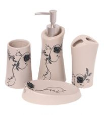 Get 26% off on Go Hooked Multicolour Ceramic Bathroom Accessories - Set of 4