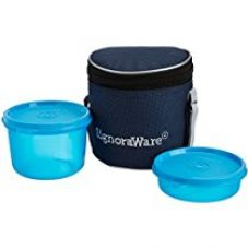 Signoraware Executive Small Lunch Box with Bag, 15cm, T Blue for Rs. 360