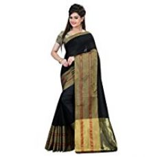 Buy Stutti Fashion Self Design Black Color Womens Silk Saree from Amazon