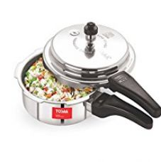 Tosaa Ultra Delux Aluminium Pressure Cooker, 2 Litres, Silver for Rs. 669