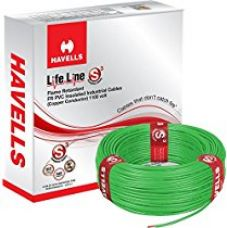 Havells Lifeline Cable WHFFDNGA11X5 1.5 sq mm Wire (Green) for Rs. 1,447