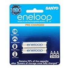 Buy Sanyo BK-4MCCE/2BN Eneloop AAA 800 mAh Rechargeable Battery, 2-Piece from Amazon
