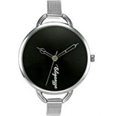 Buy Eleganzza Analogue Black Dial Women's Watch - S001Black from Amazon