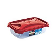 Buy Wham Cuisine Rectangular Food Storage Plastic Box Container with Lid, 800ml, Red from Amazon