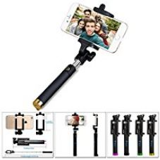 Buy Ikare Selfie Portrait Monopod Extendable Selfie Stick With Built-In Bluetooth Remote Shutter For Ios & Android Smartphones (Multi-Colour) from Amazon