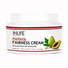 Buy Inlife Natural Papaya Fairness Moisturizer Cream (100 Gm) Paraben Free Cosmetic For Skin Whitening, Ageing, Wrinkles, Blemish, Tightening & Black Spots from Amazon