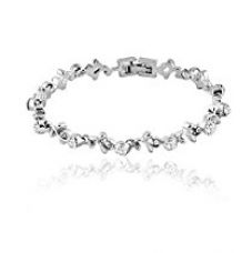 Buy Mahi daily wear fashion Garland Bracelet of brass alloy made with Crystal for Women BR1100246R from Amazon
