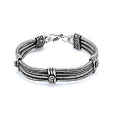 Buy Voylla Mens Bracelet With Thick Motif Pattern from Amazon