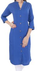 Buy Cotton Woven Plain Stitched Kurti from Voonik