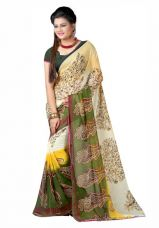 Get 66% off on Fancy Designer sarees Printed Bollywood faux Georgette sari With Blouse Piece