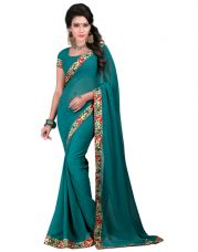 Buy Fancy Designer Sarees Bollywood Unique Georgette Saree With Blouse Piece for Rs. 525