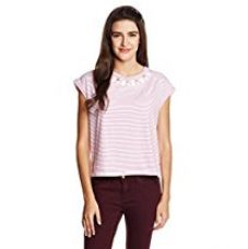 Buy Chemistry Women's Striped T-Shirt from Amazon