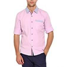 Wajbee Men's 100% Cotton Casual Shirt-XS for Rs. 448