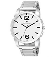 Swisstone FTREK612-WHT-CH White Dial Stainless Steel Chain Wrist Watch for Men/Boys for Rs. 485