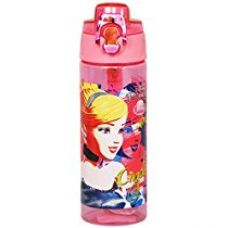 Disney Cinderella Plastic Sipper Bottle, 600ml, Pink/Yellow for Rs. 421