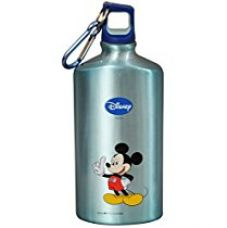Buy Disney Mickey Mouse Aluminum Sipper Bottle, 500ml, Light Blue/Blue from Amazon