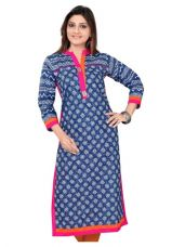 Buy Multicolored Geometrical Printed Straight Kurta from Voonik
