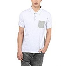 American Crew Solid Polo With Contrast Pocket Ecru Melange T-Shirt - L (ACF11-L) for Rs. 599