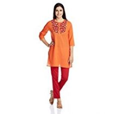 Buy Amazon Brand- Myx Women's Cotton Straight Kurta from Amazon
