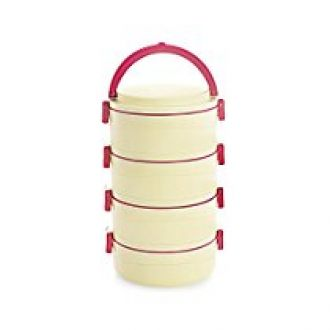 Buy Cello Amaze Insulated 4 Container Lunch Carrier, Red from Amazon