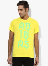 Get 50% off on Adidas Tribe Lineage Yellow Training Round Neck T-Shirt